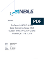 JetNEXUS ALB Howto Loadbalance Exchange