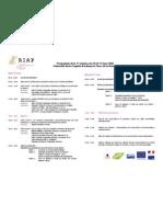 Programme RIAP 2e Session