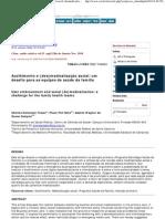Ciência & Saúde Coletiva - User embracement and social (de)medicalization_ a challenge for the family health teams