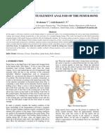 Non-linear 3d Finite Element Analysis of the Femur Bone