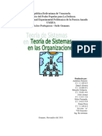 Teoría de sistemas de organización