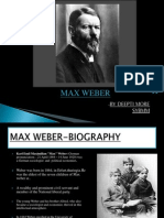 Ppt of Max Weber by-20 3rd Sem