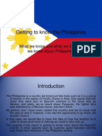 Getting to Know the Philippines