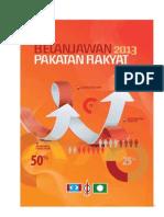 Belanjawan_2013_Pakatan_Rakyat
