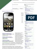 Samsung Galaxy Fit S5670, características del Samsung Galaxy Fit S5670