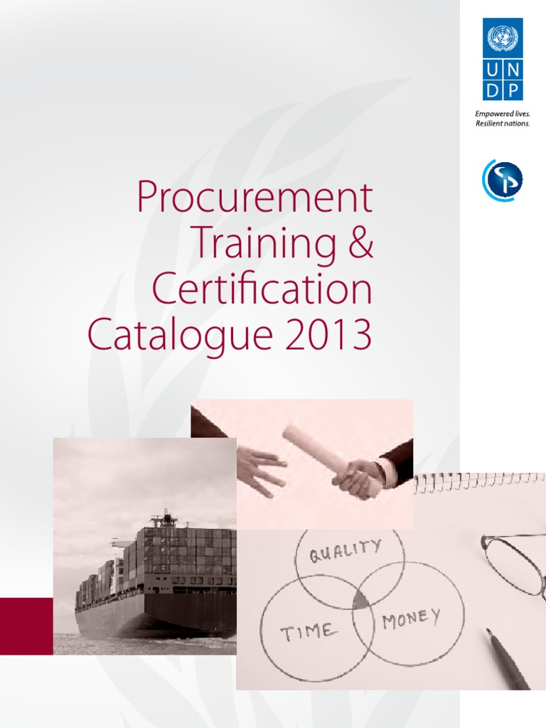 UNDP CIPS Procurement Training and Certification Programme: 2013 ...