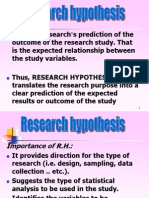 Research Hypo