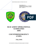 Bi-SC  Joint Operational Guidelines 10/01 Counterinsurgency (COIN), 2010