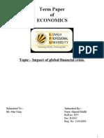 Term Paper of Economics