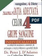 Alimentatia Adecvata Celor 4 Grupe de Sange