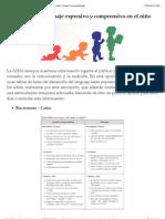 Desarrollo del lenguaje expresivo y comprensivo en el niño | Futuros Fonoaudiólogos.pdf