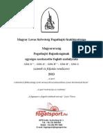 Fogatsport - egységes szabályzat '13