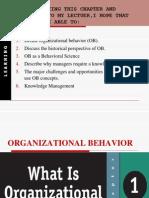 Introduction to Organization behavior