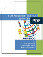 SCM Assignment on FMCG Sector- PEPSICO by Roll No 9,33,52
