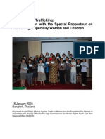 Prevention of Trafficking - A Consultation With the Special Rapporteur On