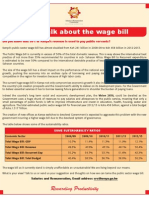 Let Us Talk About the Wage Bill