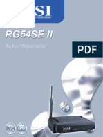 Rg54se II User Guide