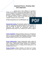 Strategic Management Process - Meaning, Steps and Components