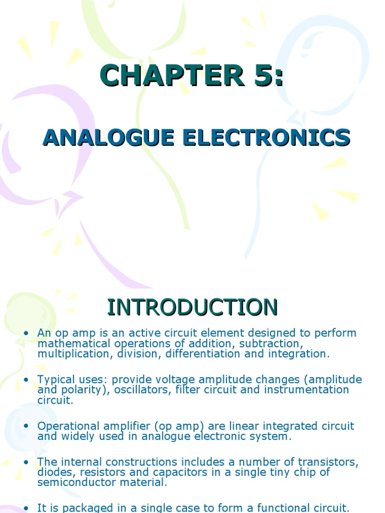 Chap5 Bekg1113 Operational Amplifier Noninverting Analog Integrated Circuits Electronics