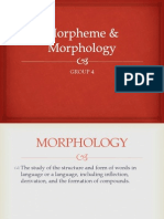 Morpheme & Morphology