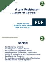 National Land Registration Program for Georgia
