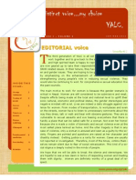 YALC Newsletter - Issue 1, Vol 3- Jan-Mar, 2013