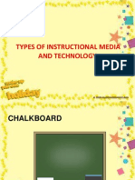 Types of Instructional Media and Technology
