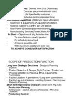 (2)-Production Management-Objectives & Scope