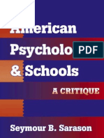American Psychology & School (a Critique) Sarason