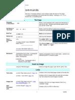 HTML Basic Commands
