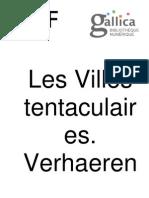 Emile Verhaeren Les Villes Tentaculaires