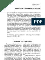 Contexto y temática contemporánea de escatología