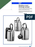 Grundfos KP Range Submersible Pumps.