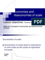 Economies and Diseconomies of Scale