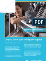 International Student Do You Know Your Workplace Rights