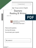 117355 2011 YLE Starters Reading Writing