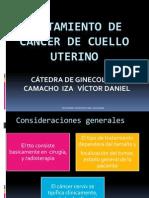 TRATAMIENTO DE CÁNCER DE CUELLO UTERINO