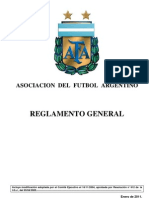 Reglamento General AFA