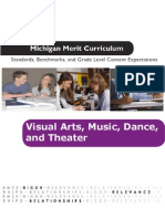 Michigan Merit Curriculum for visual arts, music, dance and theater