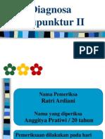 Diagnosa Akupunktur II