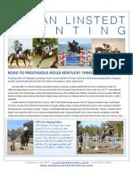 Jordan Linstedt Eventing April Newsletter