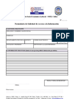 Formato de solicitud de información OSEL Callao