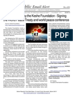 410 - Announcement by the Keshe Foundation - Signing the World Peace Treaty and World Peace Conference
