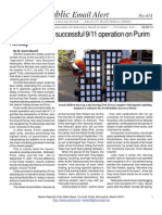 414 - Israel Celebrates Successful 911 Operation on Purim Holiday