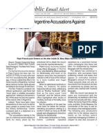 429 - Vatican Rejects Argentine Accusations Against Pope Francis I