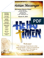 March 31 Newsletter