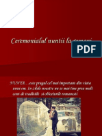 Ceremonialul Nuntii La Romani Sara Padureanu