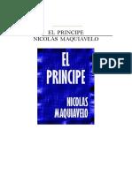 El Principe-Nicolás Maquiavelo