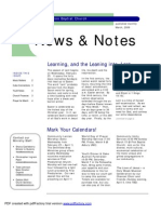 Sharon News & Notes March 2009