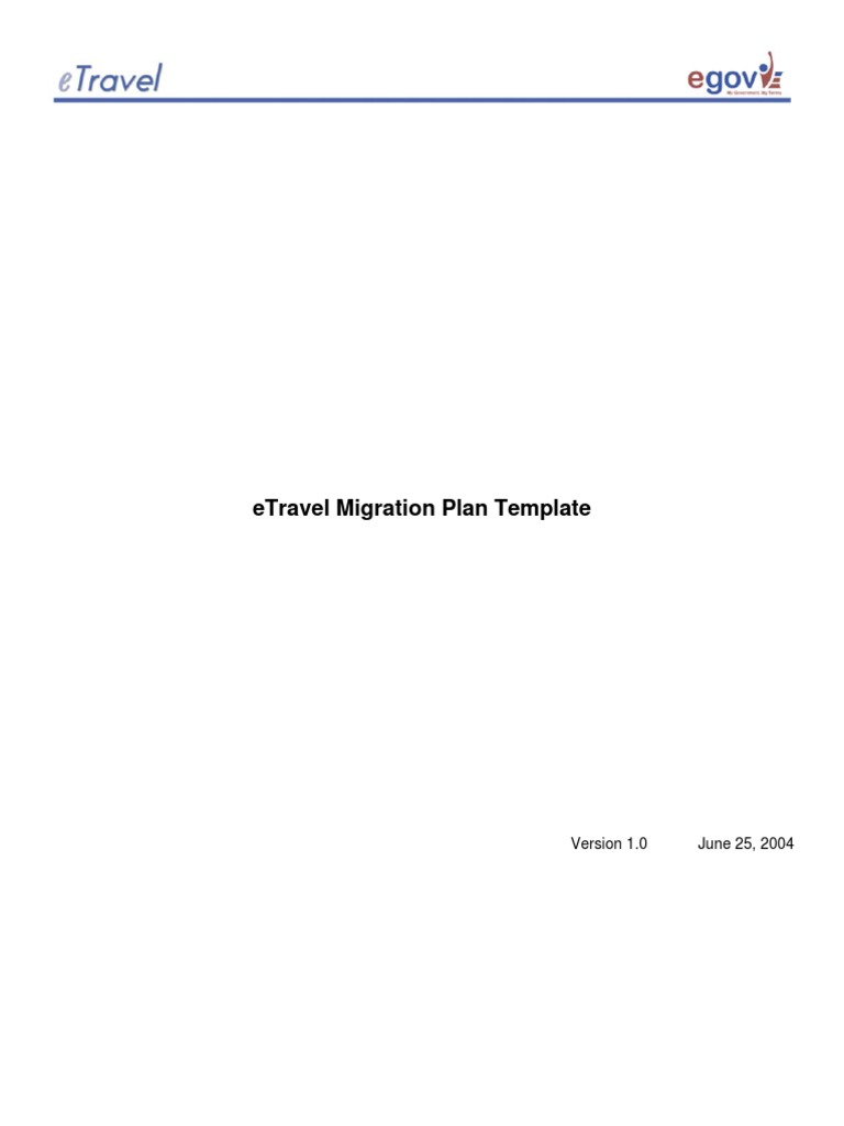 Migration Plan Template | Business Process | Project Management